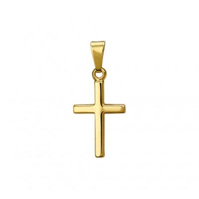 Gouden kruisje 14-karaat glanzend massief