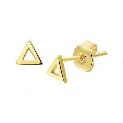 Gouden oorbellen driehoek