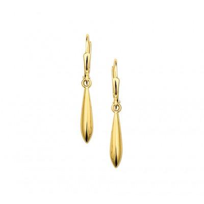 Gouden oorbellen oorhangers 18 mm