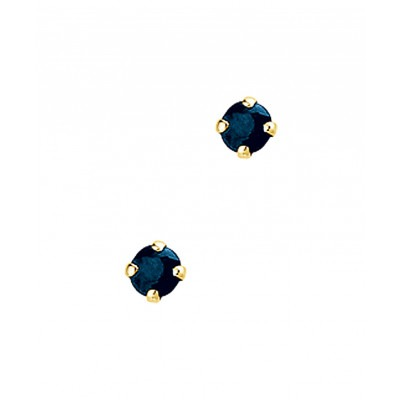 Gouden oorbellen saffier oorknopjes