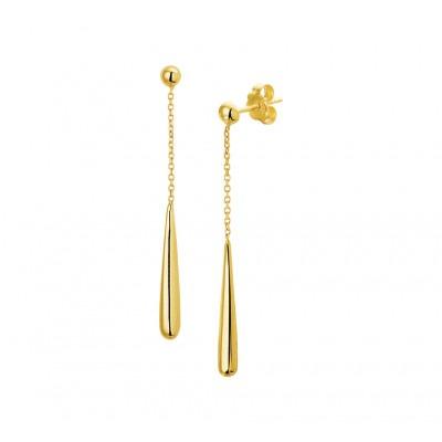 Gouden oorhangers 45 mm hoog
