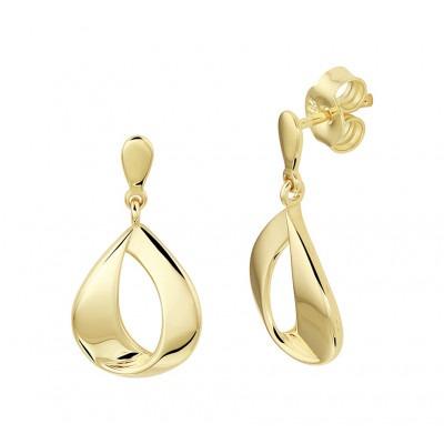 Gouden oorhangers druppelvorm