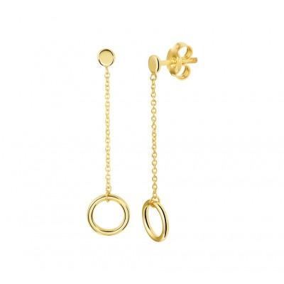 Gouden oorhangers met cirkel
