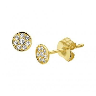 Gouden oorknopjes 4 mm groot