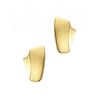 Gouden oorknopjes 8 mm