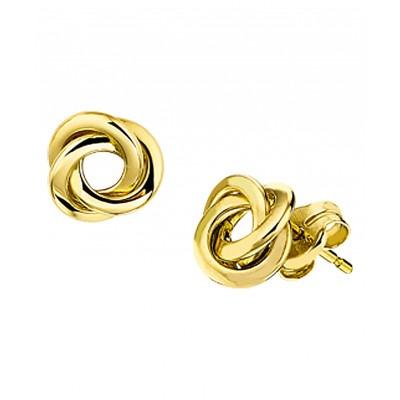 Gouden oorknopjes knoopje