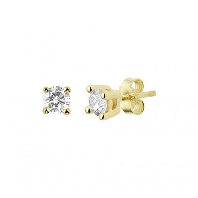 Gouden oorknopjes met diamant 3 mm