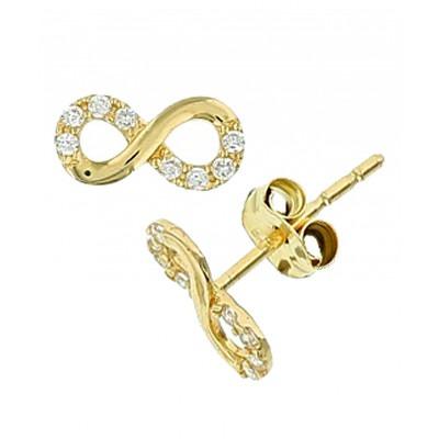 Gouden oorknoppen 4 mm hoog