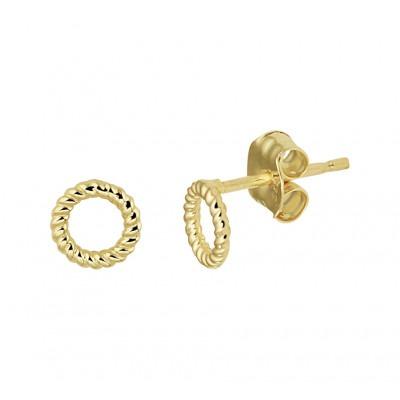 Gouden oorknoppen rondje
