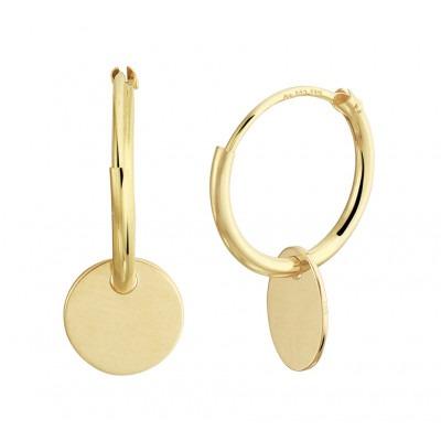 Gouden oorringen met rondje