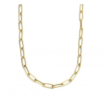 Gouden paperclip ketting 4 mm