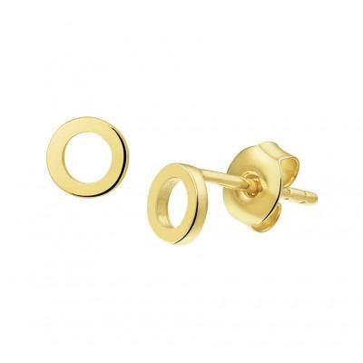 Gouden ronde oorbellen