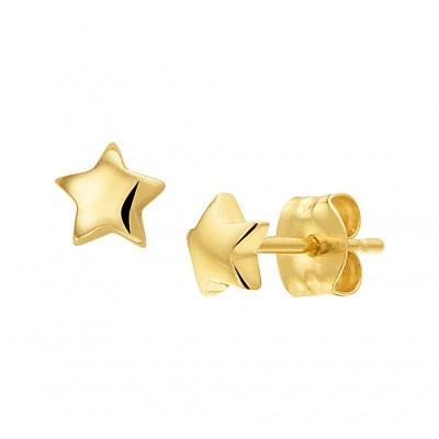Gouden ster oorbellen 4 mm