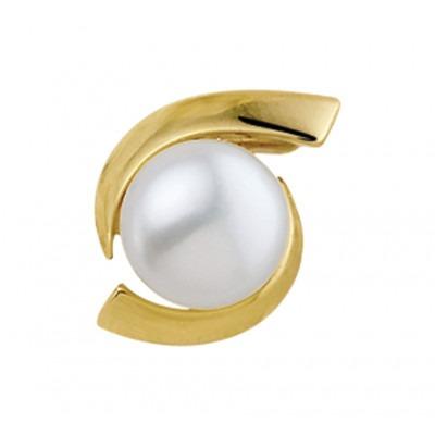 Hanger van goud met parel 8 mm