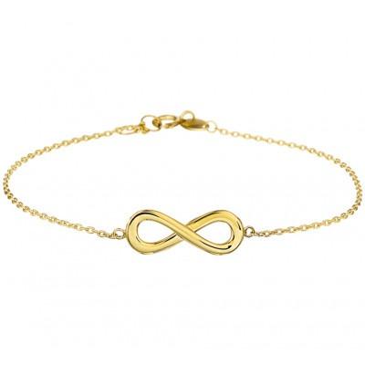 Infinity armband goud