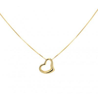 Ketting hartje goud 42-45 cm