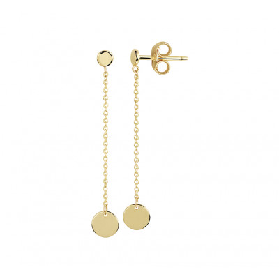 Lange gouden oorbellen met rondjes