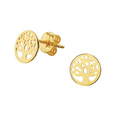 Levensboom oorbellen van goud