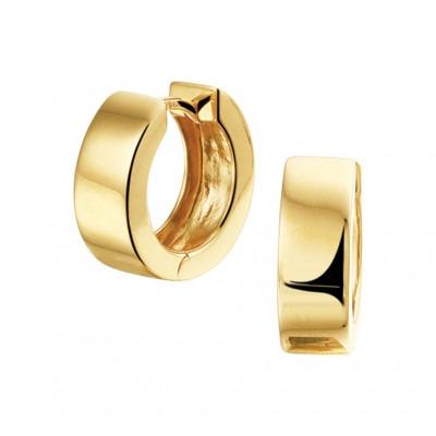 Luxe klapcreolen goudkleurig 5 mm breed
