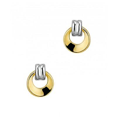 Luxe oorknoppen van goud 7 mm hoog