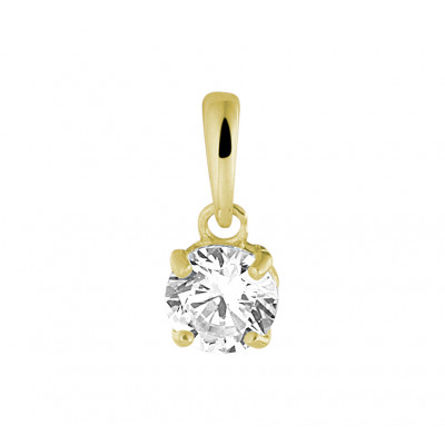 Minimalistische gouden hanger zirkonia