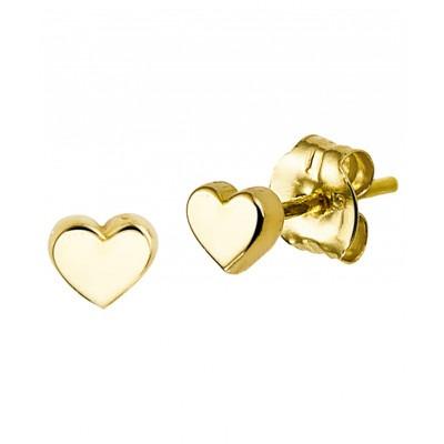Mooie gouden oorknoppen 4 mm breed