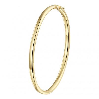 Mooie gouden slavenarmband 4 mm