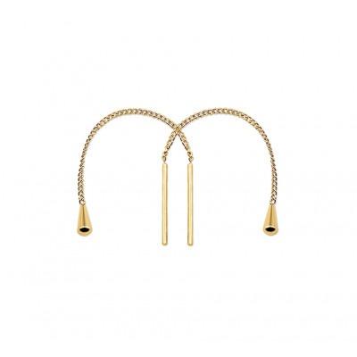 Mooie goudkleurige doortrek oorbellen