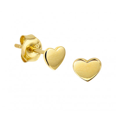 Mooie oorknoppen van goud 4 mm hoogte