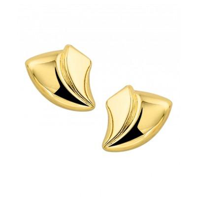 Mooie oorknoppen van goud 9 mm hoog