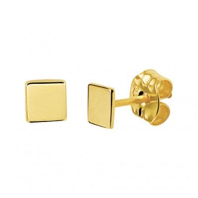 Oorbellen goud vierkant