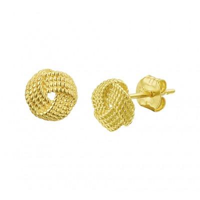 Oorknopjes goud knoop