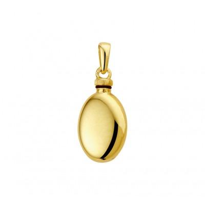 Ovalen ashanger van goud