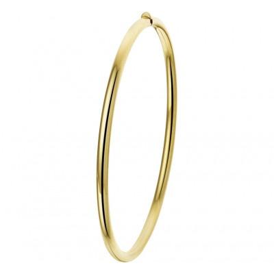 Ovalen gouden slavenarmband 3 mm