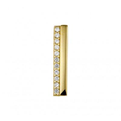 Rechte gouden hanger met zirkonia
