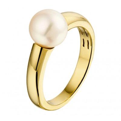 Ring met parel van goud