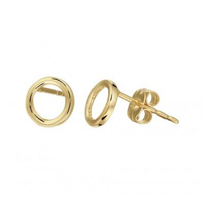 Ronde gouden oorbellen