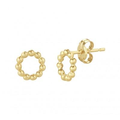 Ronde gouden oorknoppen met bolletjes