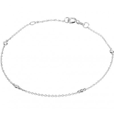 Armband met edelsteen diamant van witgoud