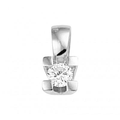 Hanger met edelsteen diamant in het witgoud
