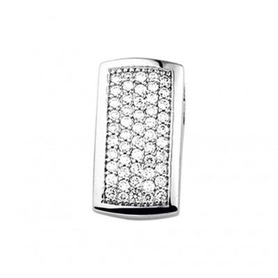 Hippe edelsteen hanger met diamant