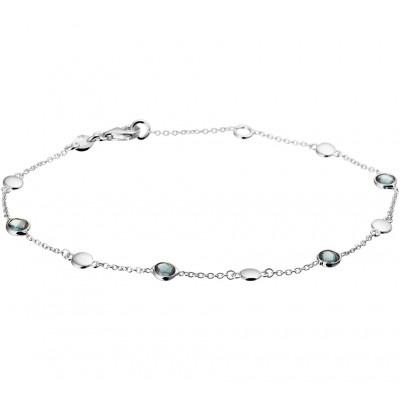 Mooie edelsteen armband met topaas 17-19 cm