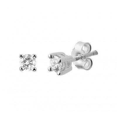 Oorknopjes met edelsteen diamant