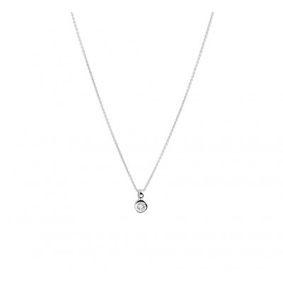 Witgouden diamanten ketting 42 cm