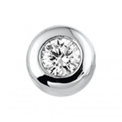 Witgouden edelsteen hanger met diamant