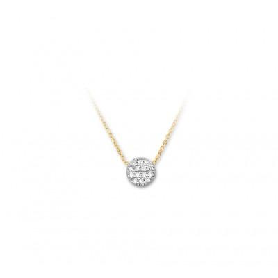 Bicolor edelsteen ketting met diamant