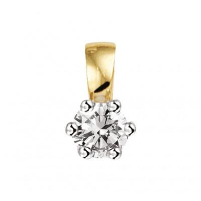 Chique edelstenen hanger met diamant bicolor