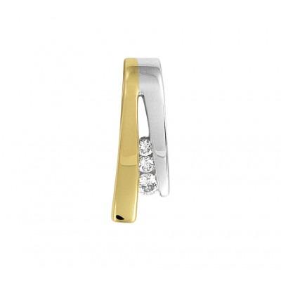 Diamant hanger 14 krt bicolor