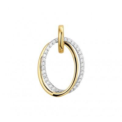 Diamanten hanger ovaal
