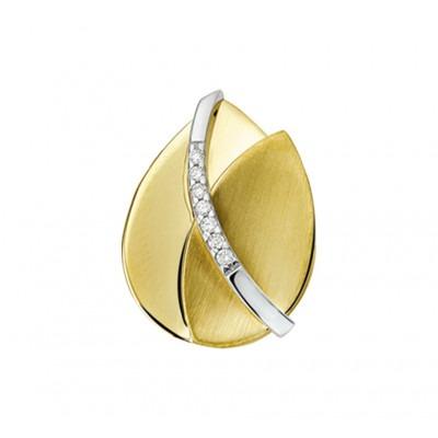 Edelstenen hanger uitgevoerd met diamant bicolor